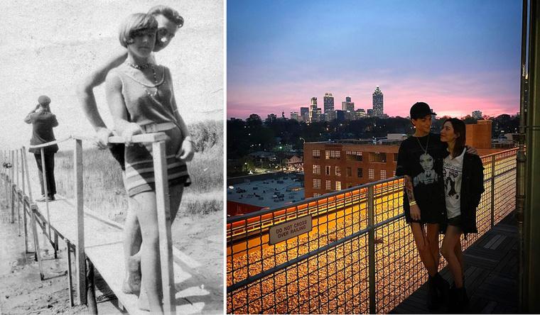 Romantika a korlátnál 1922-ben és szerelmes pillantások Ruby Rose és barátnője között.