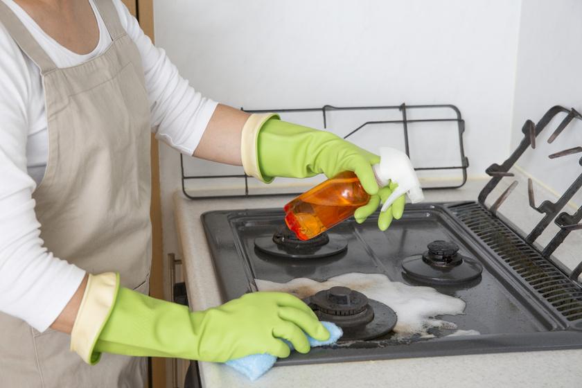 gáztűzhely takarítás