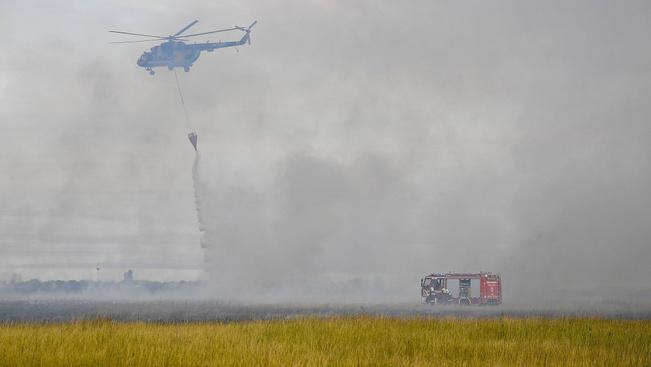 Csaknem ezer hektár égett le eddig Hortobágyon