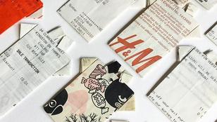 Ironikus címkékkel és pici papírpólókkal a fast fashion ellen