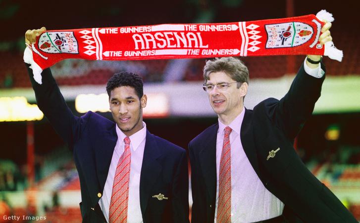 Nicolas Anelka és Arsene Wenger (1997)