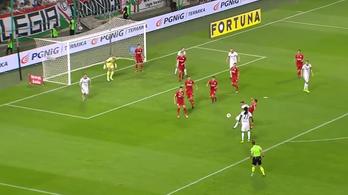 Nagy Dominik nagy gólt vágott a Legiában