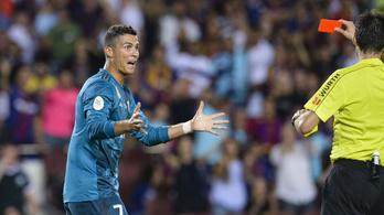 C. Ronaldo tombol, marad az ötmeccses eltiltása