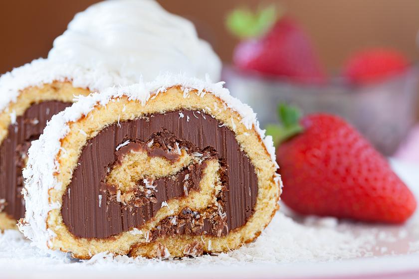 Fantasztikus Bounty piskótatekercs - Puha, krémes és nagyon csokis