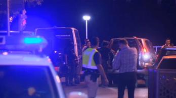Videón az egyik cambrilsi támadó lelövése