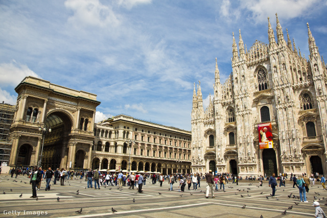 A szintén sokak által látogatott milánói Dóm