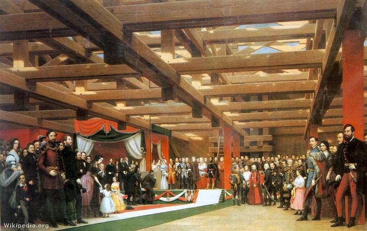 Így nézett ki az ünnepség egy 1864-es festmény alapján.