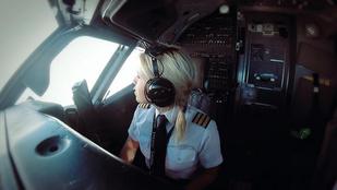 Még mindig szokatlan, ha nő vezeti az utasszállítógépet