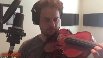 2017 egyetlen videóban: a fickó, aki fidget spinnerrel hegedül Ed Sheerant