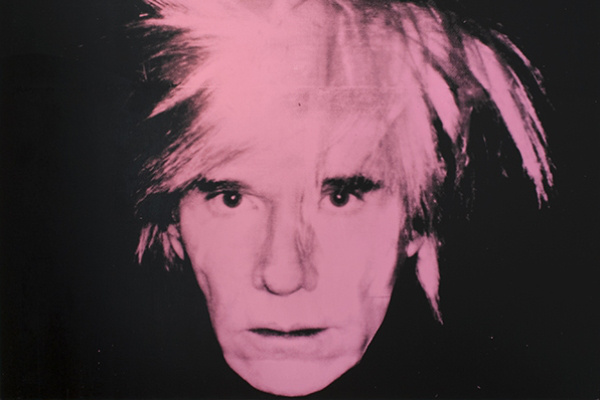 Andy Warhol: Self-portrait (fright wig) 1986.