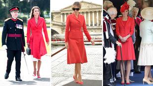 Piros ruha: Trumpné vs. Katalin hercegné vs. Ránija királyné