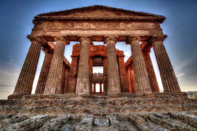 Agrigento egyik híres temploma.