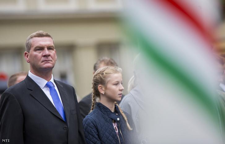 Botka László polgármester a szegedi önkormányzat augusztus 20-i ünnepségén 2017. augusztus 20-án.