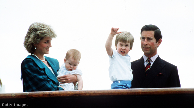 """VENICE ITALY - MAY 6:  Prince Charles Prince of Wales Princess Diana Princess of Wales pose with sons Prince William and Prince Harry on the Royal Yacht Britannia on May 6 1985 in Venice Italy.  Last week Prince William comforted a grieving boy and said: """"I still miss my mother every day – and it's 20 years after she died."""""""