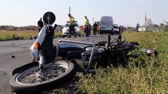 Halálos motorbaleset Miskolc mellett
