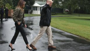 Melania Trump a katasztrófa sújtotta Texasba is tűsarkúban utazik