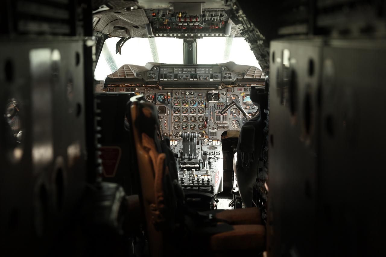 A Concorde pilótafülkéje.