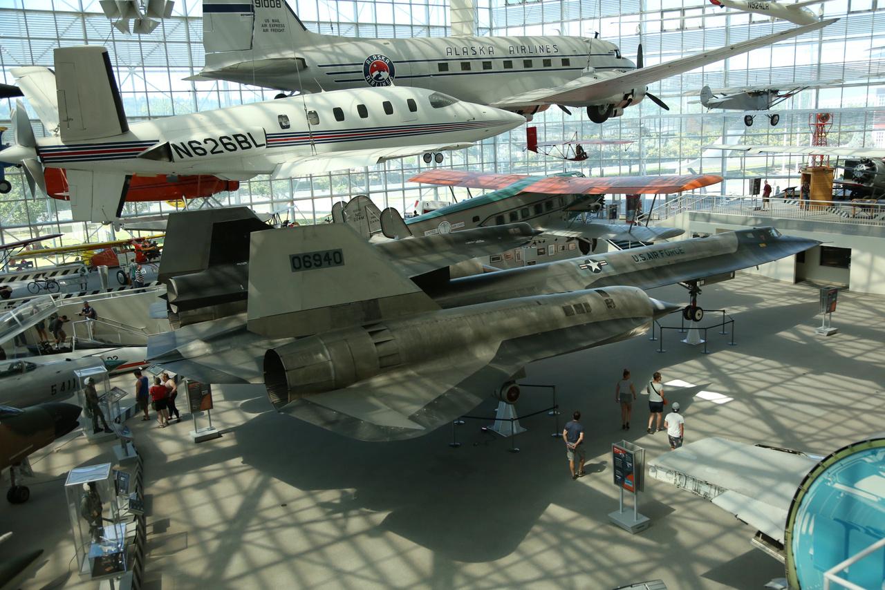 A múzeum fő büszkesége, a Lockheed M-21 Blackbird szuperszonikus kémrepülőgép, amiről külön cikkben emlékezünk meg.
