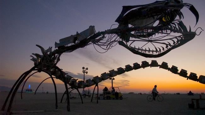 Halálra égett egy férfi a Burning Man fesztivál tüzes ceremóniáján