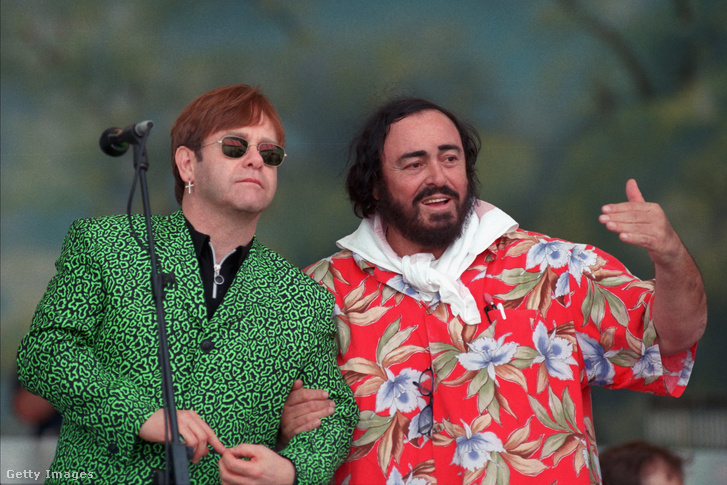 Elton John és Luciano Pavarotti