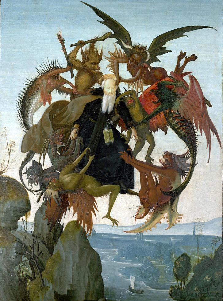 Remete Szent Antal megkísértése (1487–88 k.) Michelangelo 12 évesen készítette az alkotást