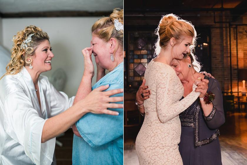 Így változik az anya arca, ha férjhez megy a lánya - Fotókon a megható pillanat