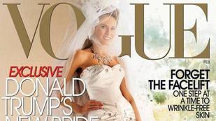 Melania Trump szekerét tolja a Vogue