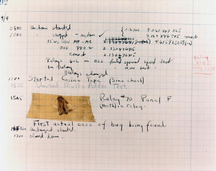 A naplózott bug.