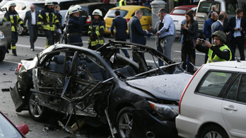 Felrobbant egy autó Kijev belvárosában, egy ember meghalt