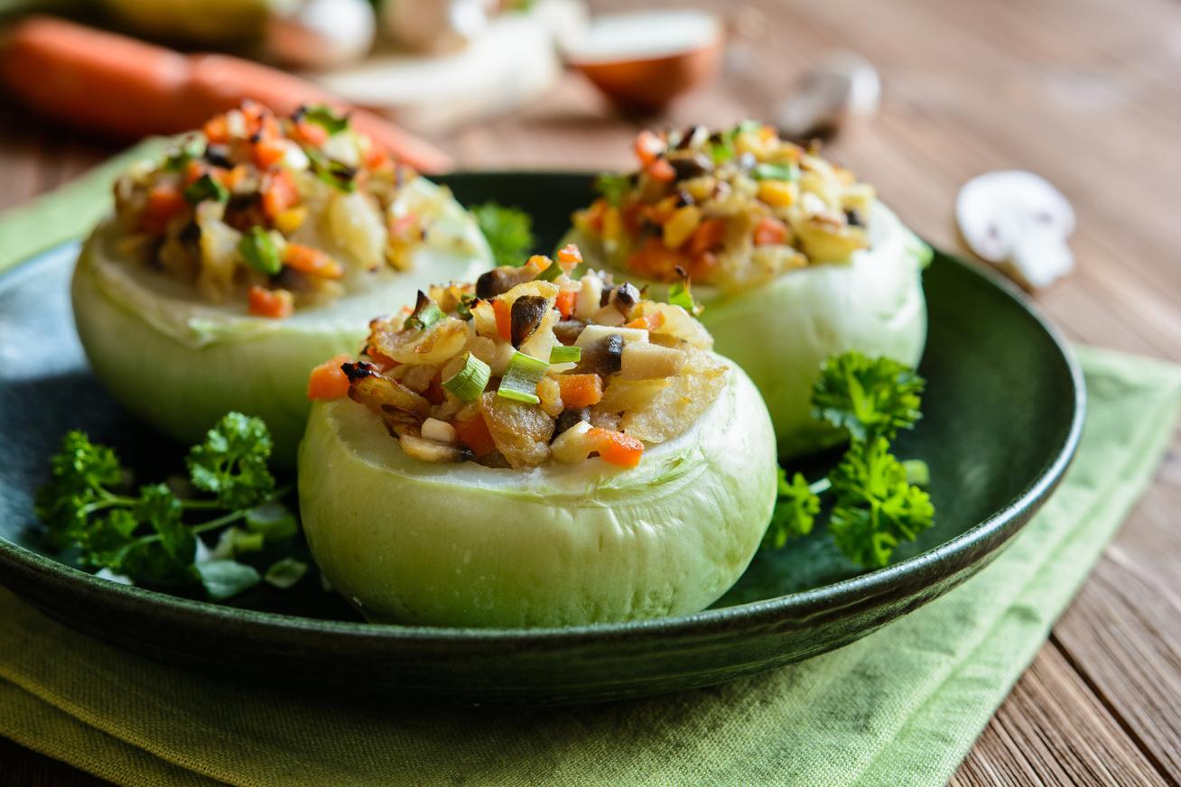 Karcsúsító, zöldségekkel töltött karalábé: nincs 300 kalória egy adag