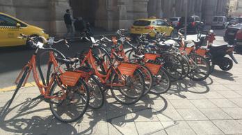 Biciklikölcsönzők szorítják ki a magán-kerékpárokat a belvárosból