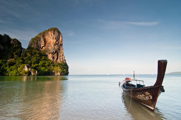 Railay West Beach, Krabi, Thaiföld