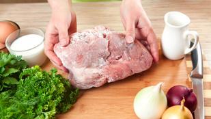 Biztonságos felolvasztani, majd újra lefagyasztani a húst?