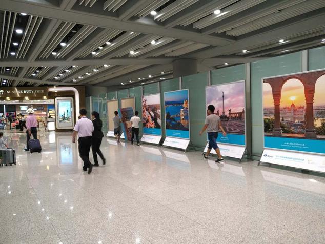 Fotókiállítás Budapestről a Pekingi Nemzetközi Repülőtéren