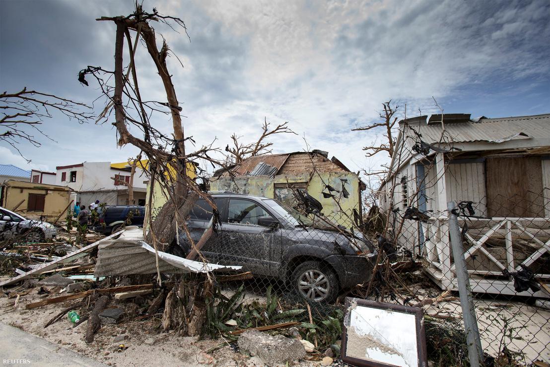 Saint Martin az Irma pusztítása után