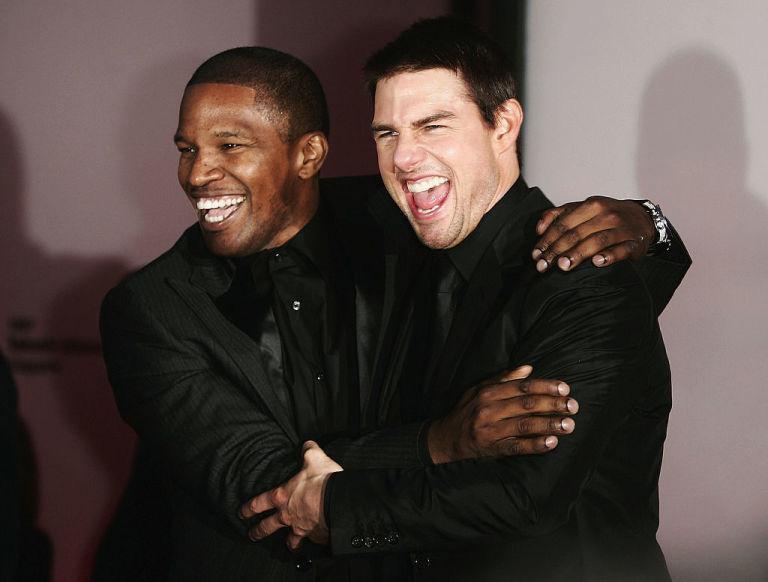 Tom Cruise és Jamie Foxx a Collateral - A halál záloga című film forgatásakor barátkoztak össze