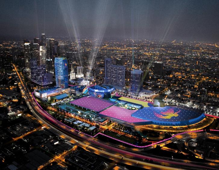 Az egyik Los Angeles-i olimpiai stadion látványterve