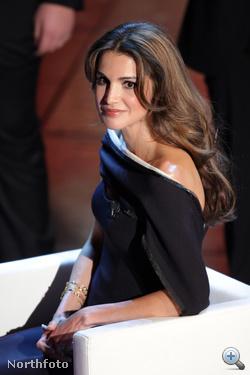 Ránija jordán királyné a 2010-es San Remo-i zenei fesztiválon, Olaszországban