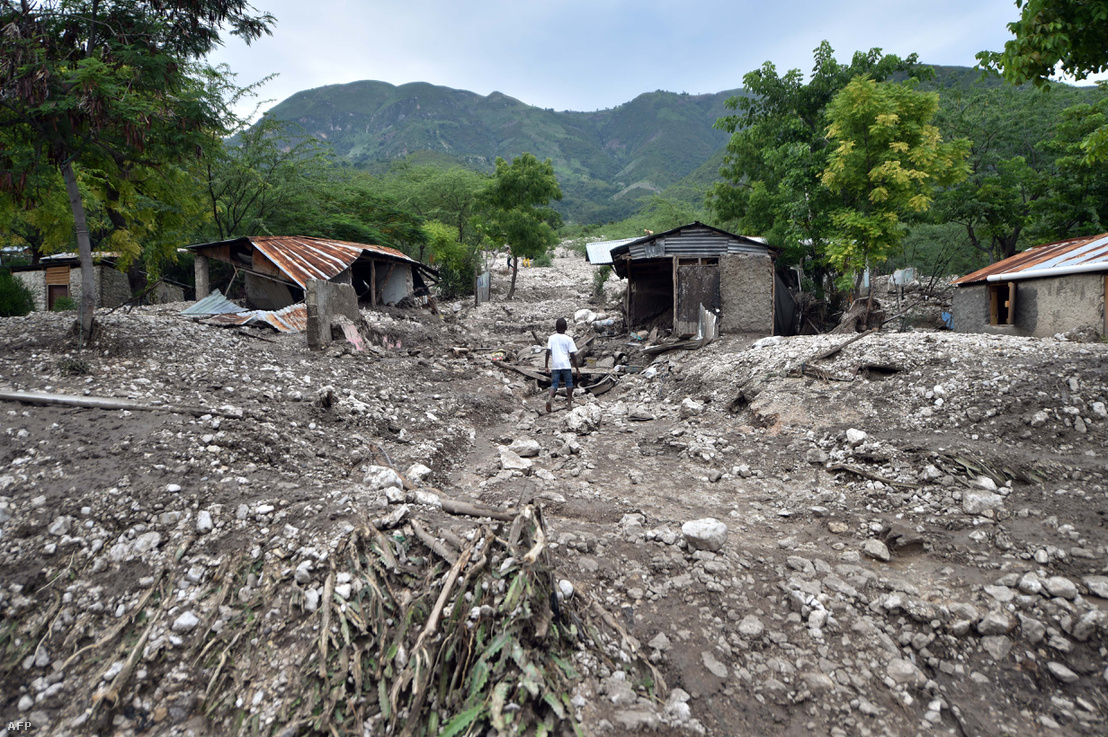 Haiti az Erika nevű trópusi vihar elvonulása után, 2015-ben.