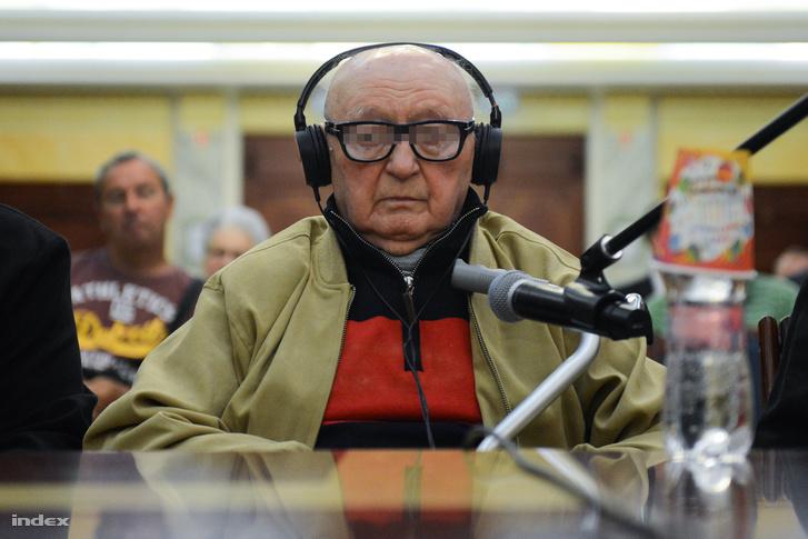 Biszku Béla a bíróságon 2015. június 1-jén