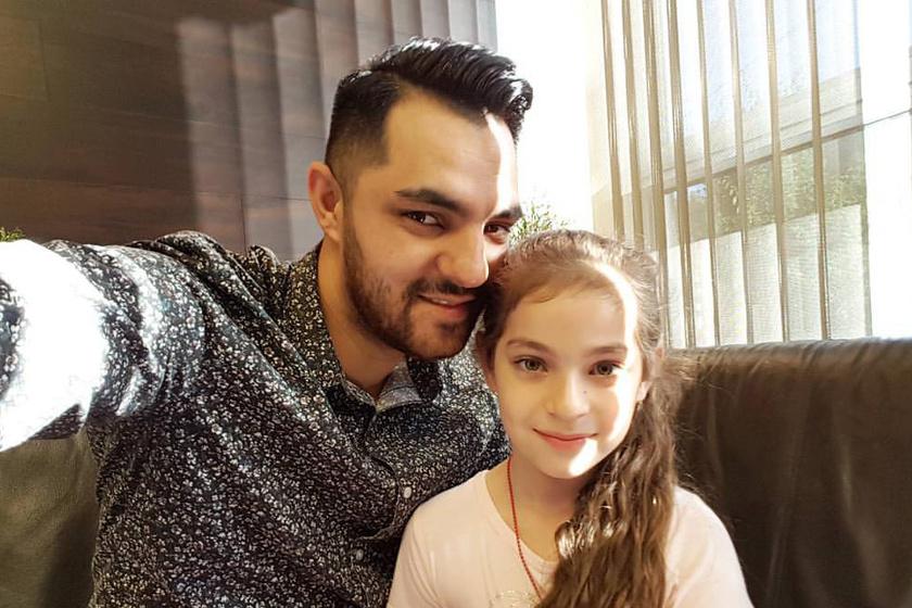 Oláh Gergő lánya olyan szép, akár egy kis hercegnő - Fotókon a hétéves Karla
