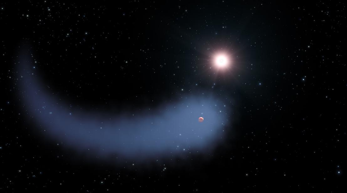 Így nézhet ki a Gliese 436 csillag és a körülötte keringő, légkörét veszítő bolygó