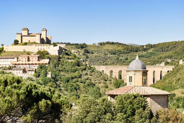 Íme a bájos Spoleto egy részlete - ne feledje felvenni a várost a bakancslistájára!