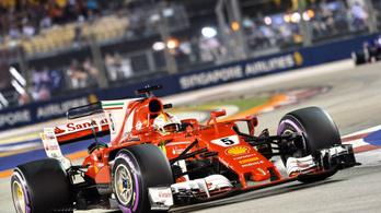 Nagy Vettel-bravúr, nagy Hamilton-szívás Szingapúrban
