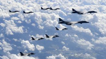Amerikai nehézbombázók repültek Koreába