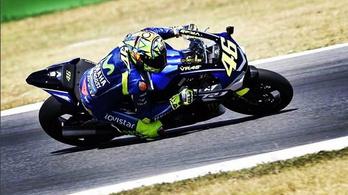Valentino Rossi 18 nappal kettős lábtörése után már tesztelt