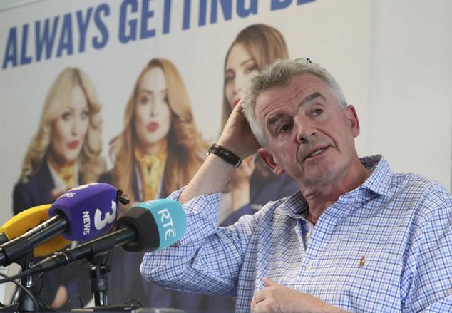 Főhet a feje. Michael O'Leary, a Ryanair vezérigazgatója