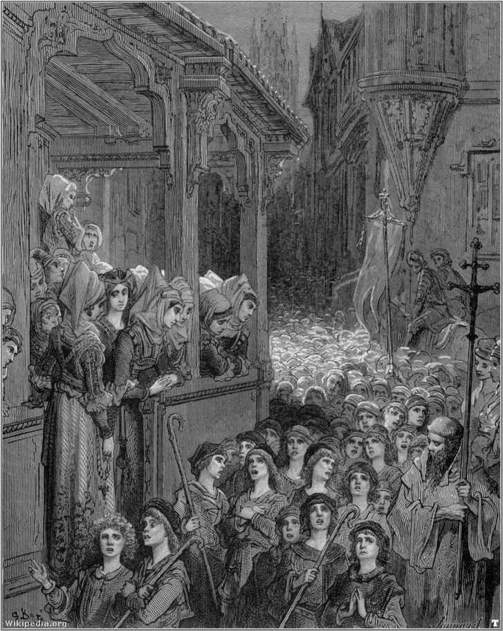 Gustave dore crusades the childrens crusade