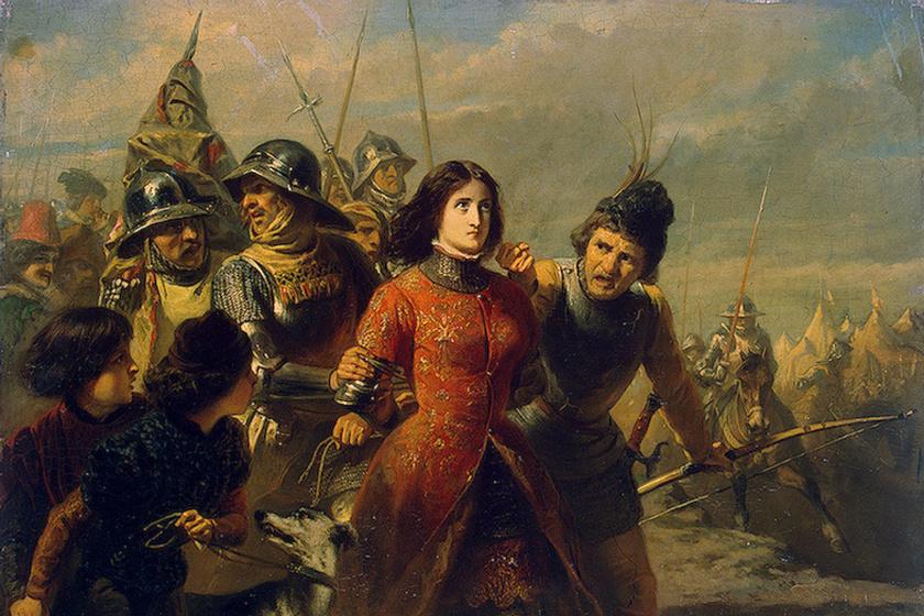 Adolphe Dillens festménye, címe: Jeanne d'Arc elfogása