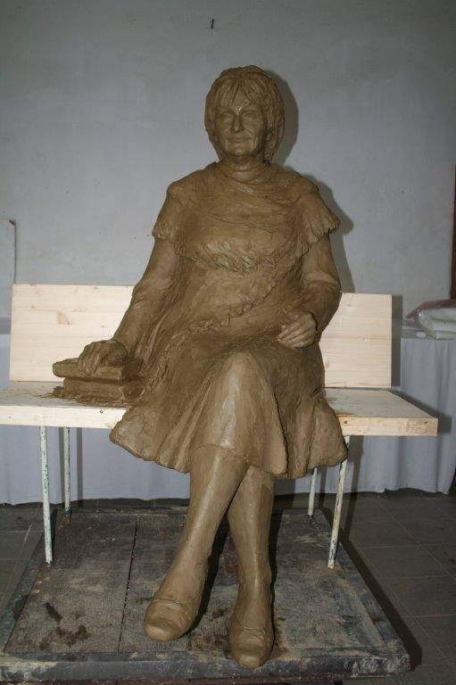 Szabó Magda tervezett szobra